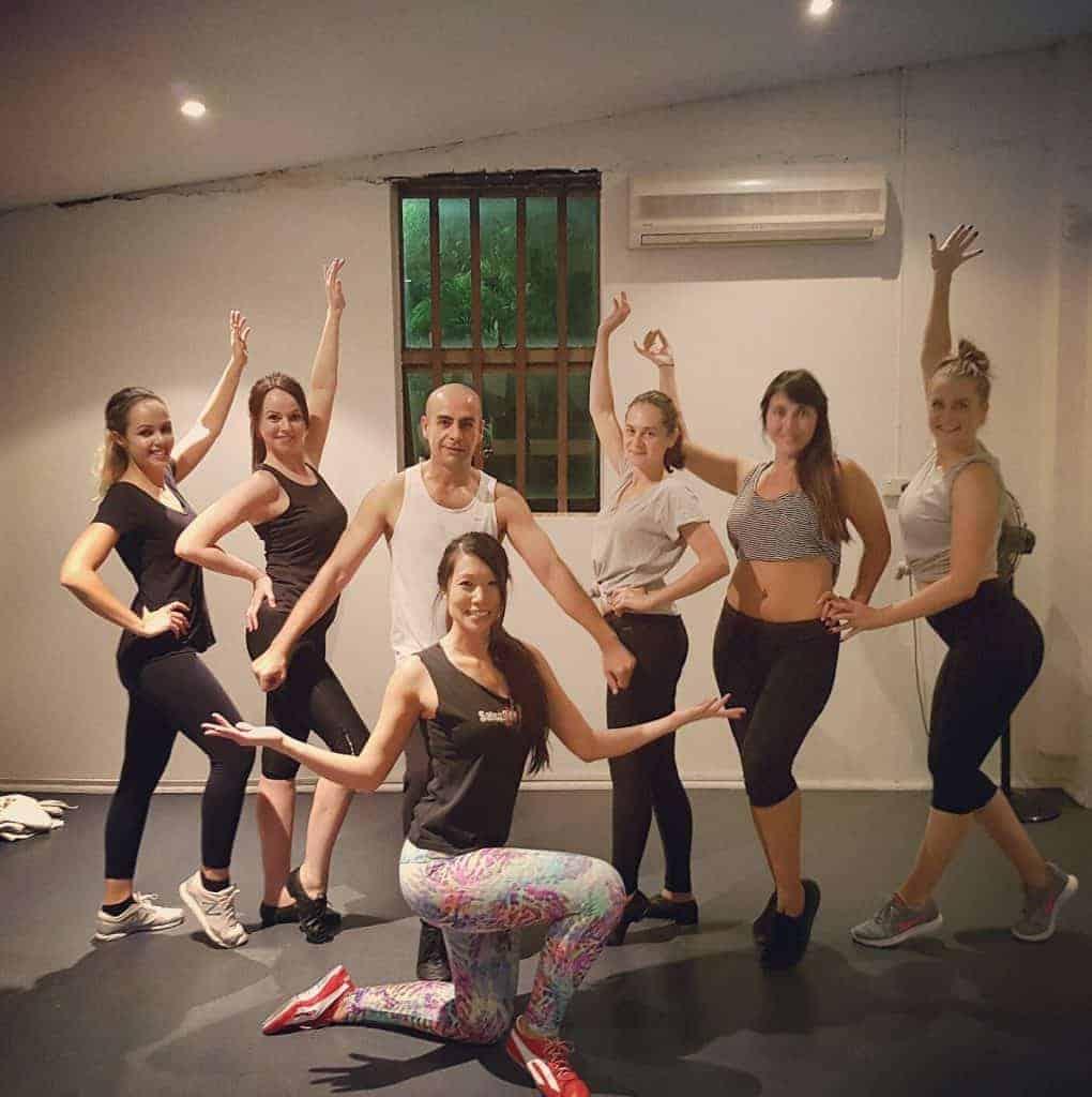 Samba classes posing 1