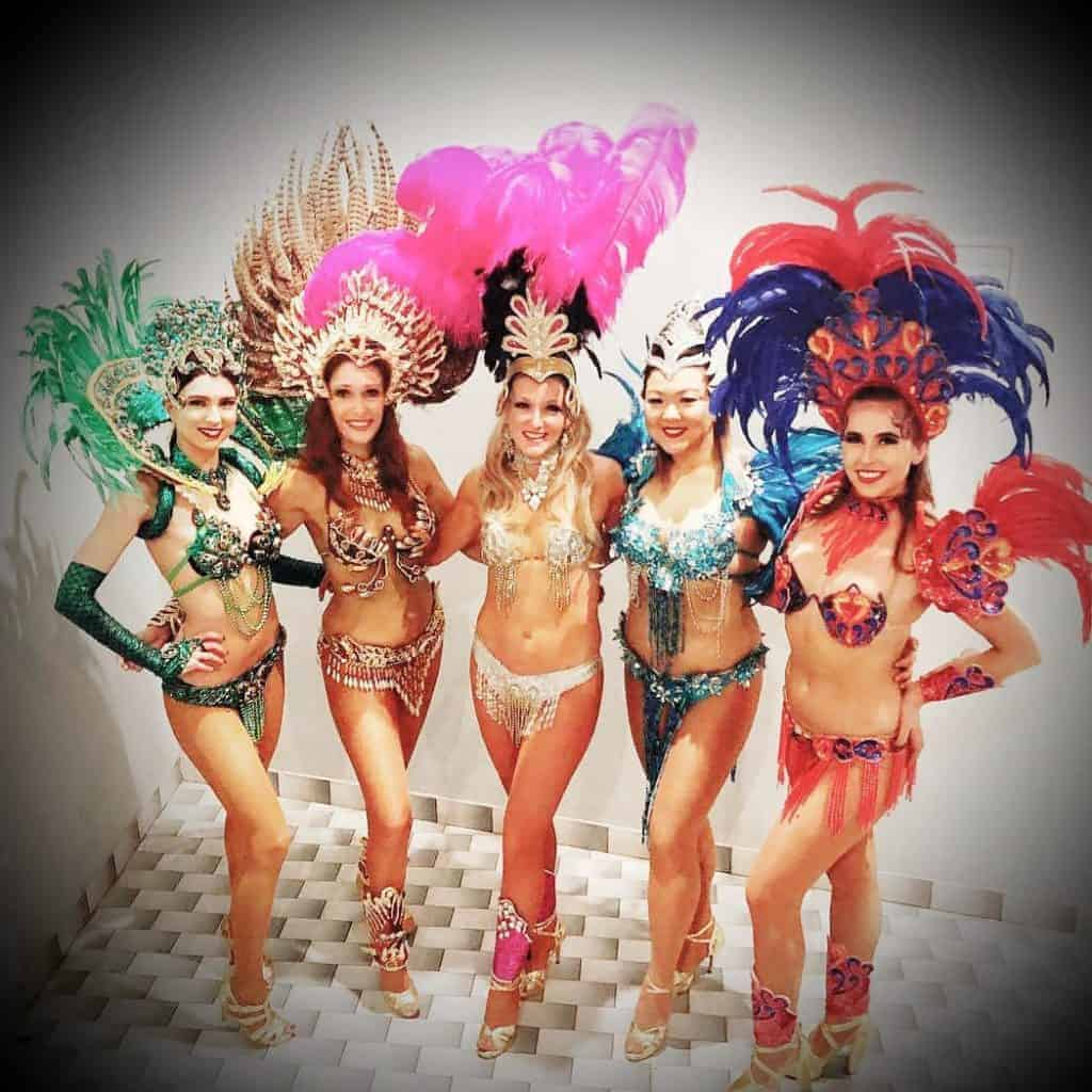 group of samba girls selfie
