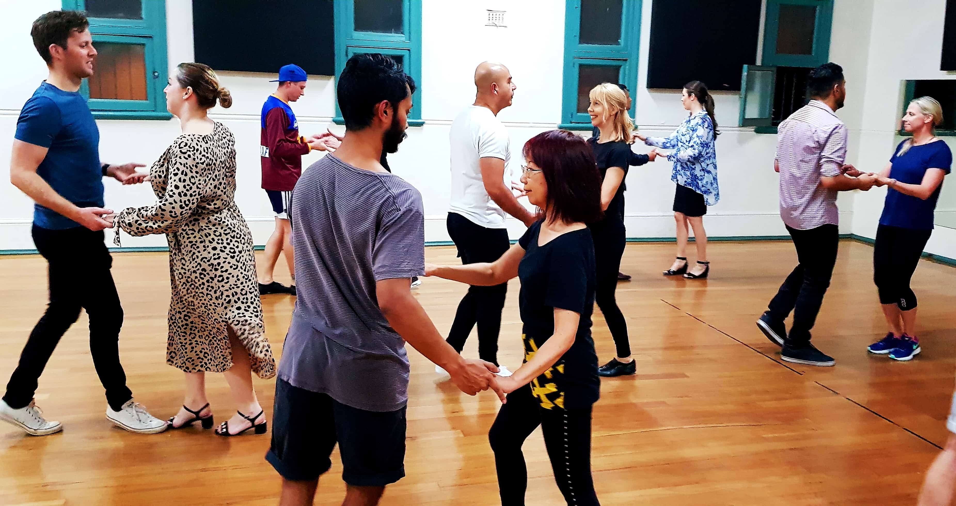 emily dancing with student